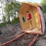 DIY tiny house construction window installation