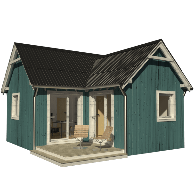 One bedroom house plans peggy for Building a one room house