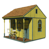 one room cabin plans with loft and porch