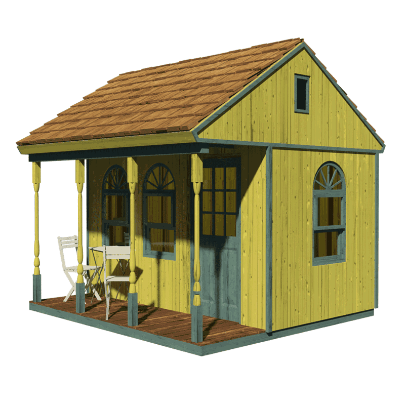 Victorian shed plans for Single room cabin plans