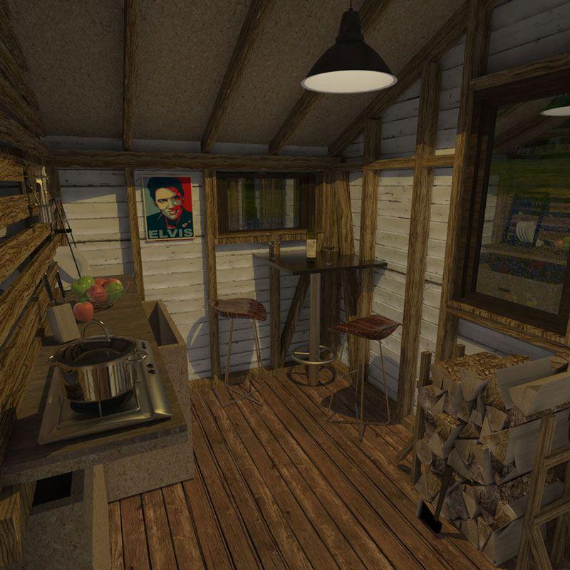Small Home House Plans: Garden Cabin Plans Gina