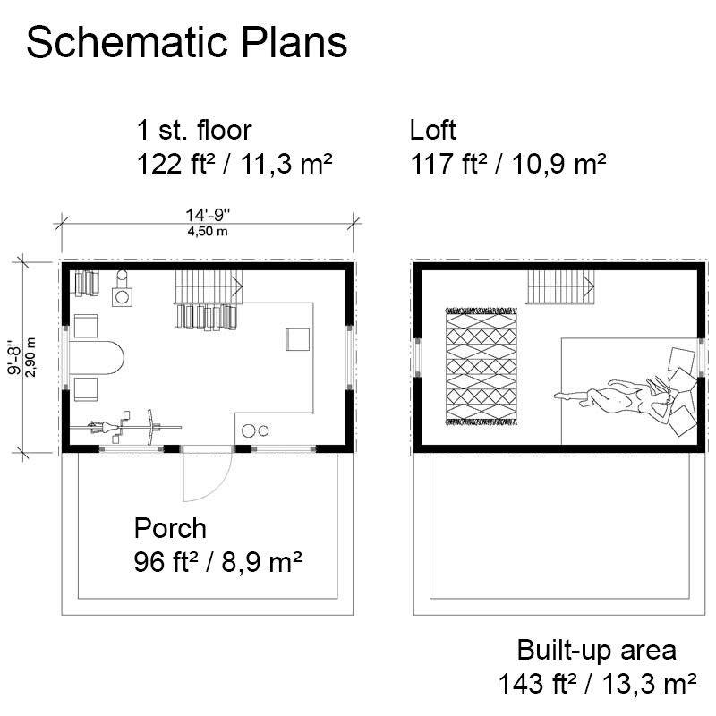 18x20 Cabin Plan With Loft – Jerusalem House