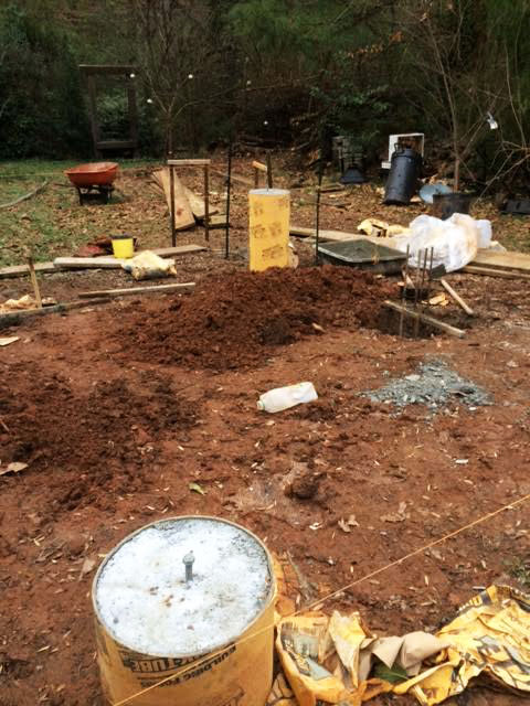 how to build tiny house foundations piers