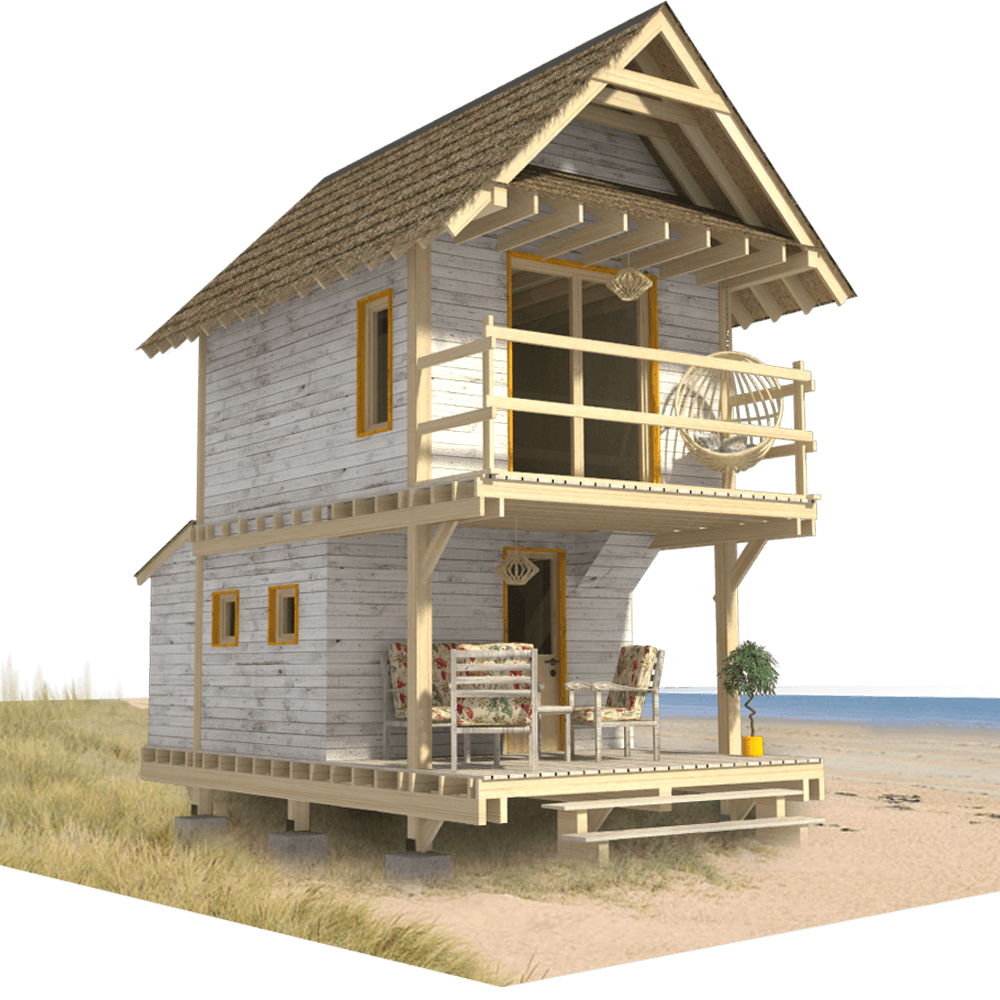 Small Beach Cabin Plans