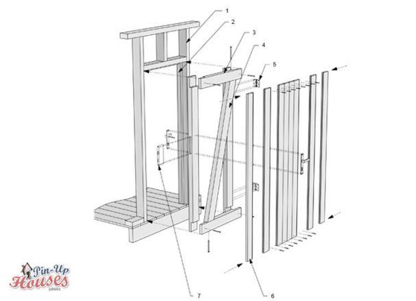 how to build wooden door, DIY entrance door for small house plans