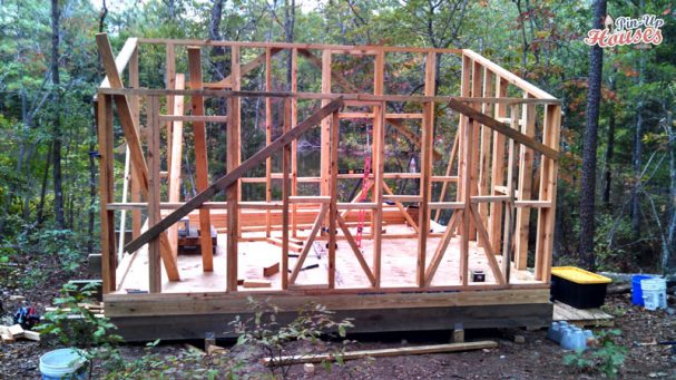 cabin wall framing