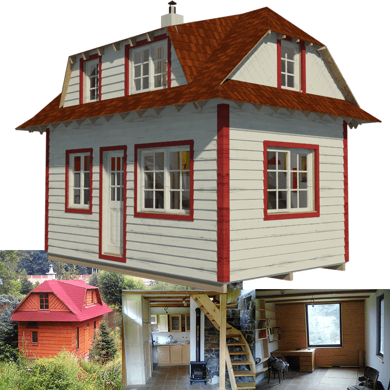 Family tiny house plans Small house blueprint