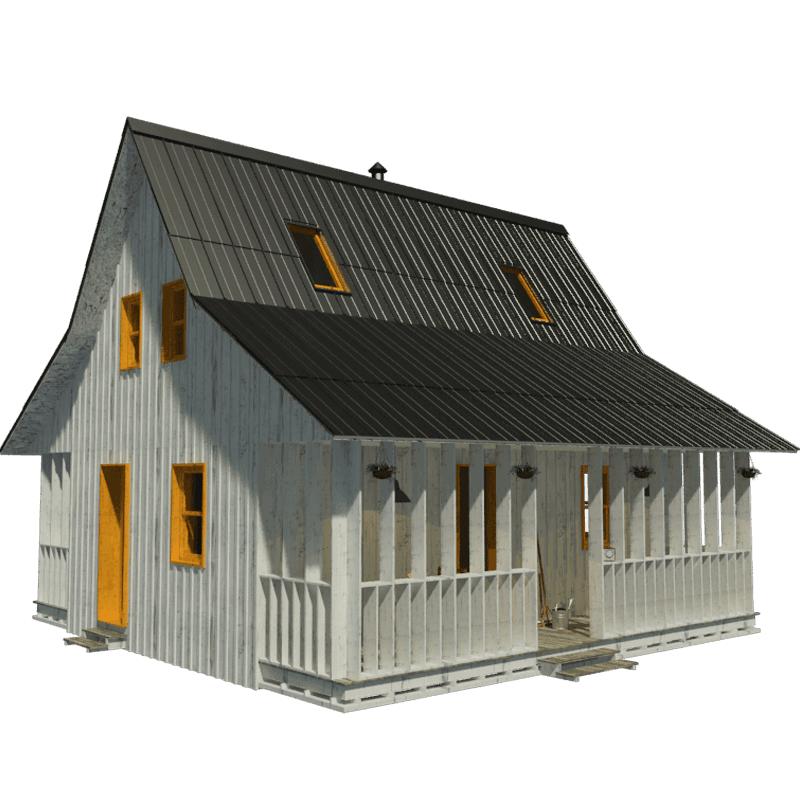 Small house plans with porches for Png home designs