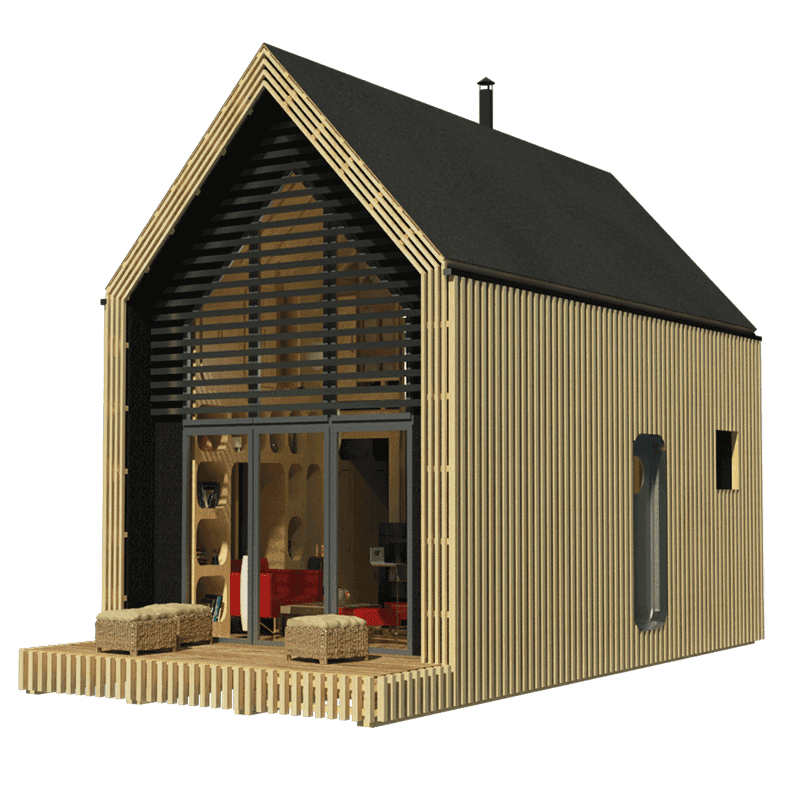 Modern tiny house plans for Small a frame cabin plans with loft