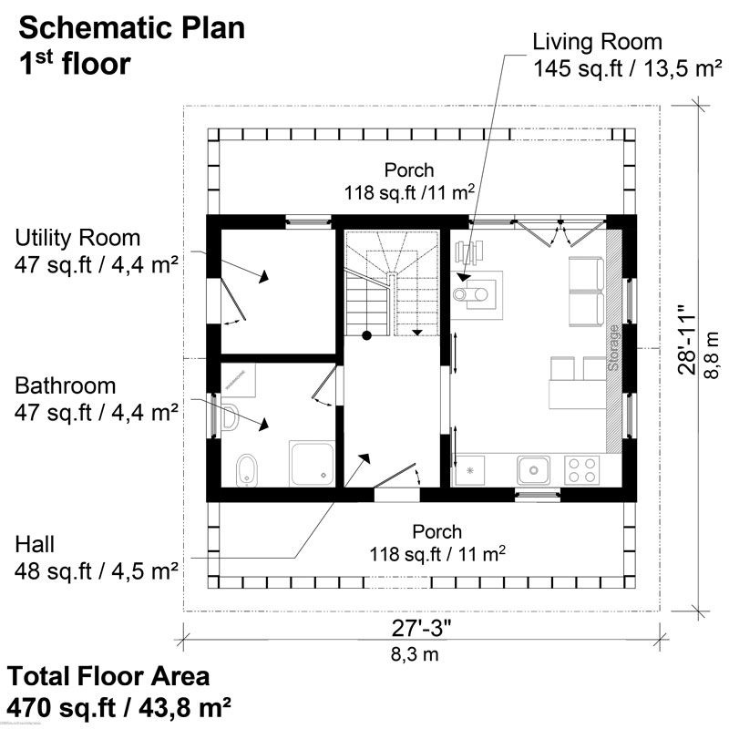 Small House Plans With Porches Gloria