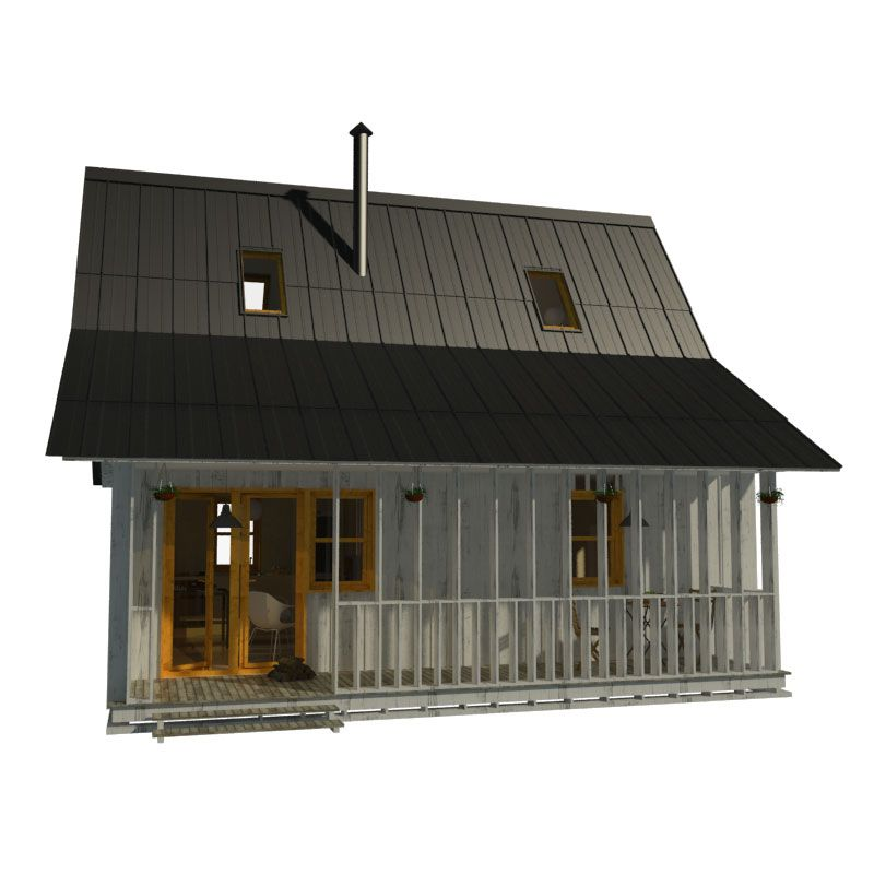 Small house plans with porches for Small cabin plans with loft