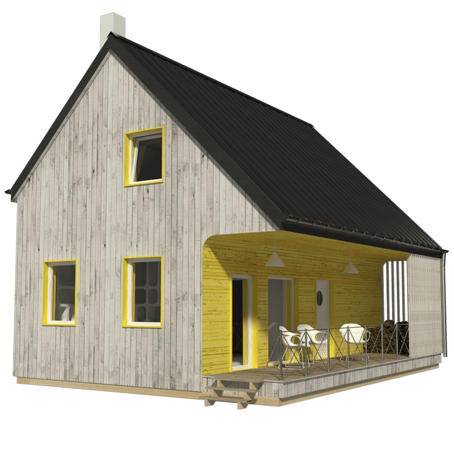 Two Story Tiny House Plan: Small House Plans
