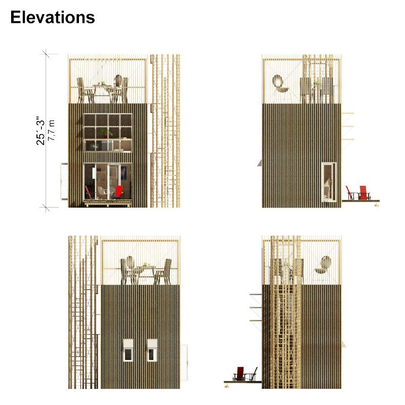 Small Tower House Plans