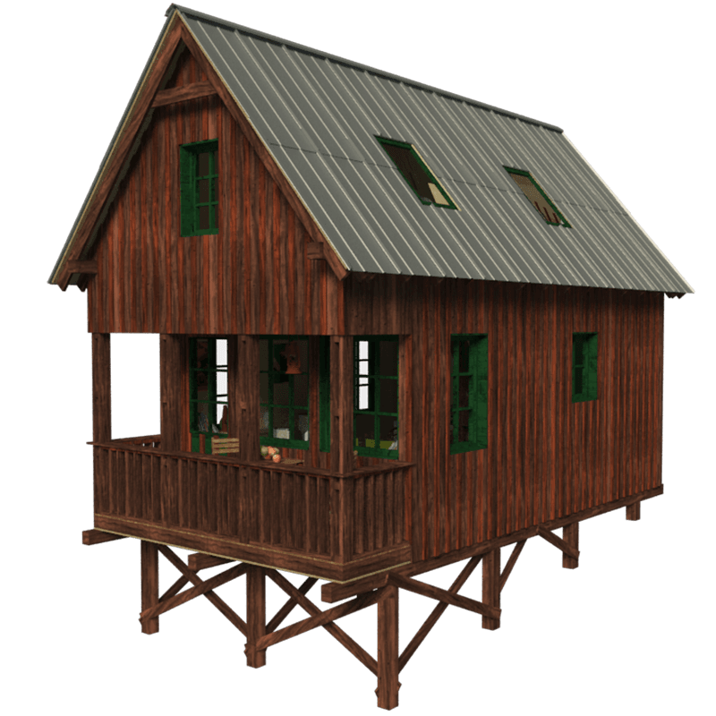 Small cabin plans with loft and porch joy studio design Tiny house plans with porches