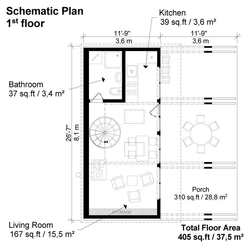 Small lake house plans esther for Lake home floor plans