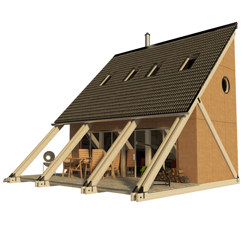 Small lake house plans esther for Tiny house cabin plans