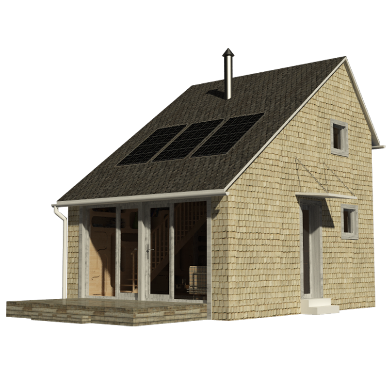 Small saltbox house plans Saltbox cabin plans