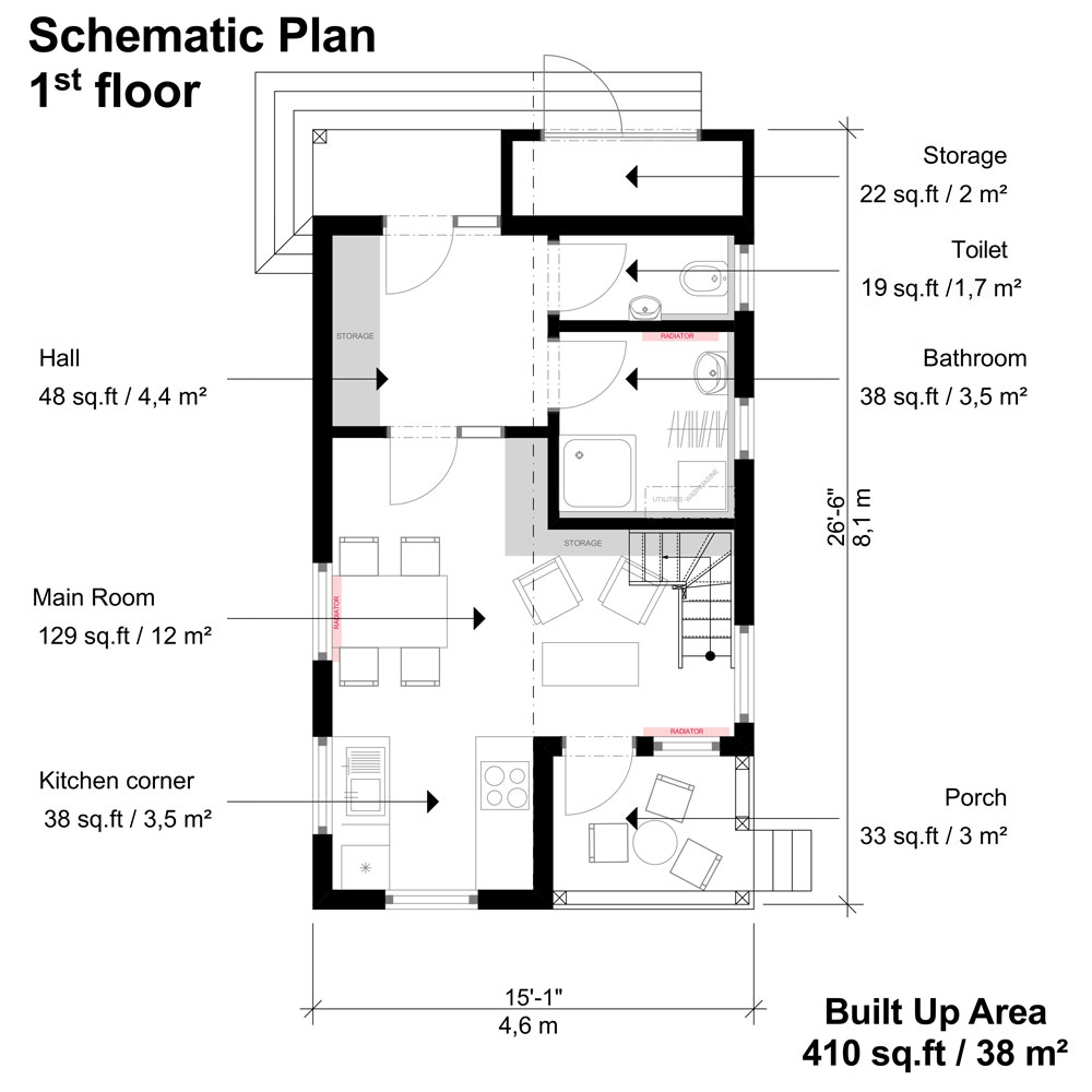 Small 3 Bedroom House Plans Amy