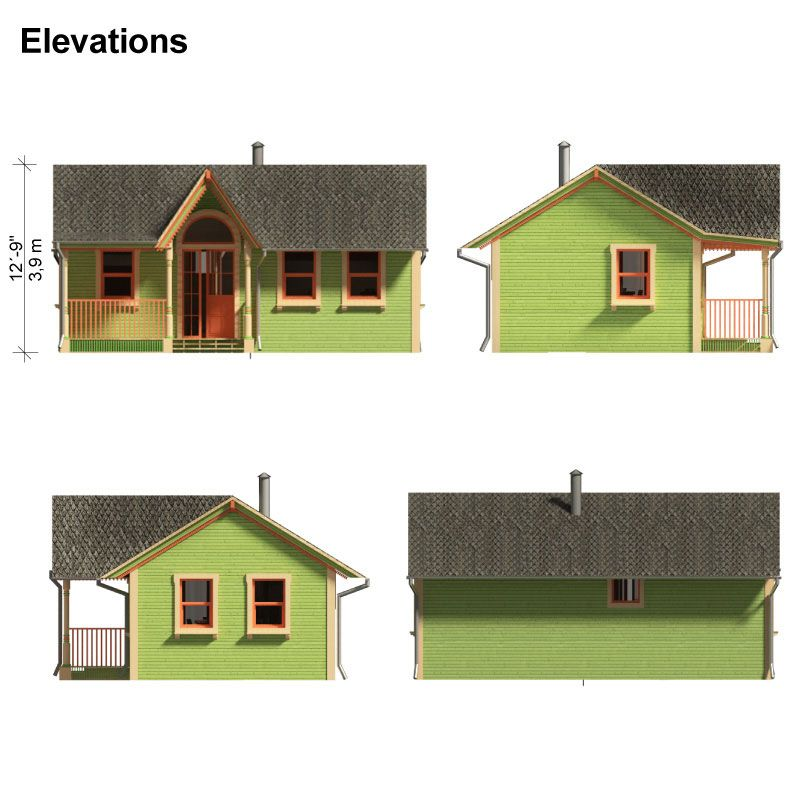 Tiny Home Designs: Victorian Small House Plans