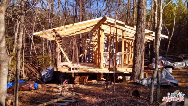 wood cabin frame