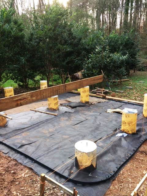 how to start foundations for tiny house