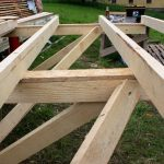 timber floor frame detail of joists and bearers