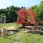 timber framework for small cabin