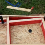timber wall frame for small cabin detail