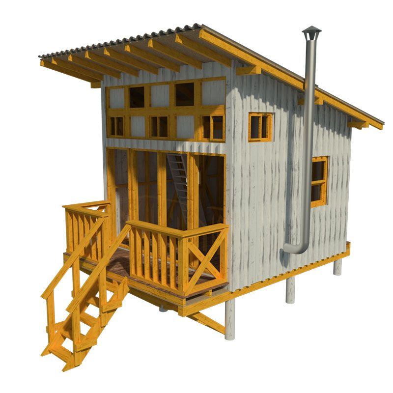 Elevated cabin plans for Beach cabin designs
