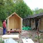 prefab tiny house construction in progress