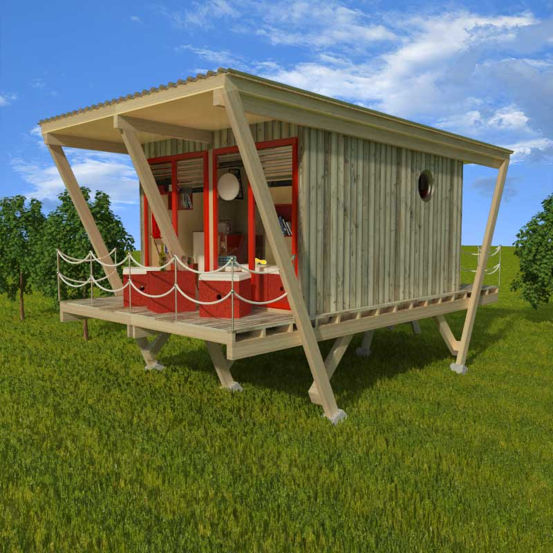 Elevated tiny house plans for Elevated home plans