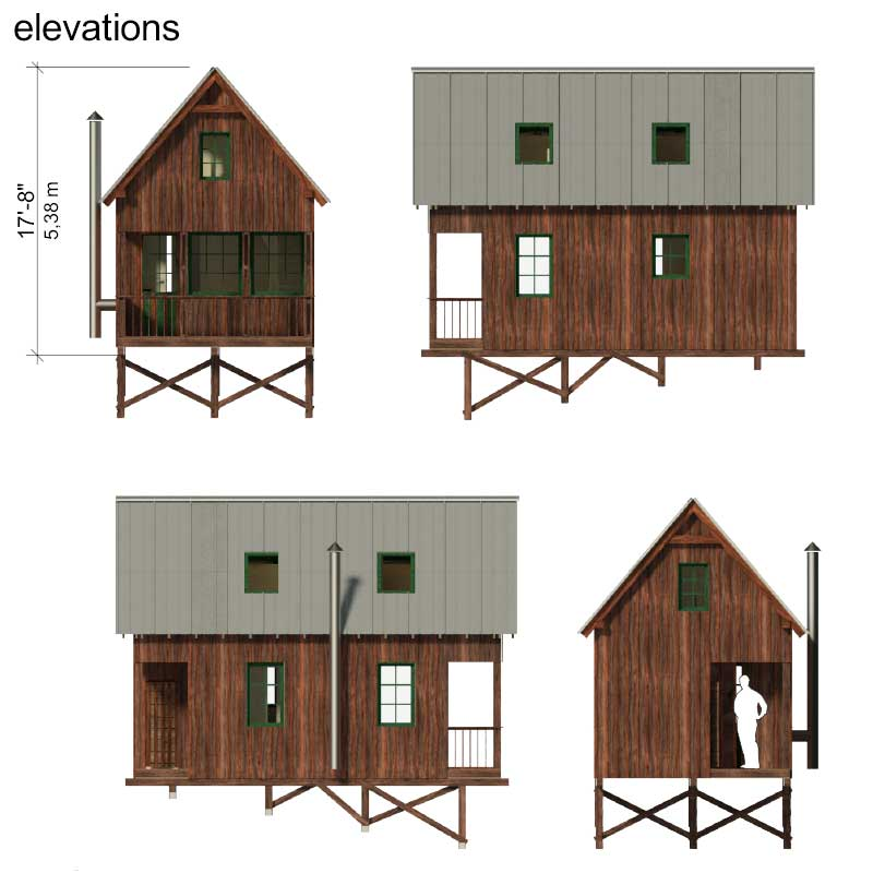 Small house plans with gable roof for Tiny home construction plans