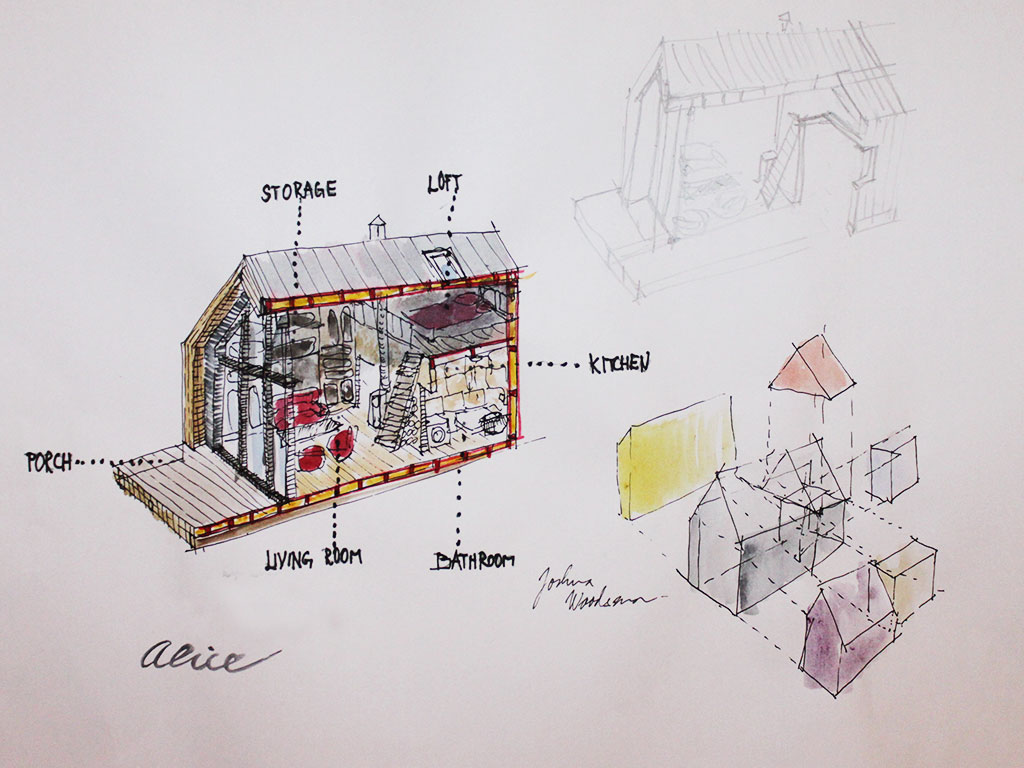 Tiny Houses Design Process Small Wooden House Plans Micro