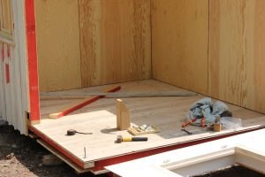 plywood panelling prefab house