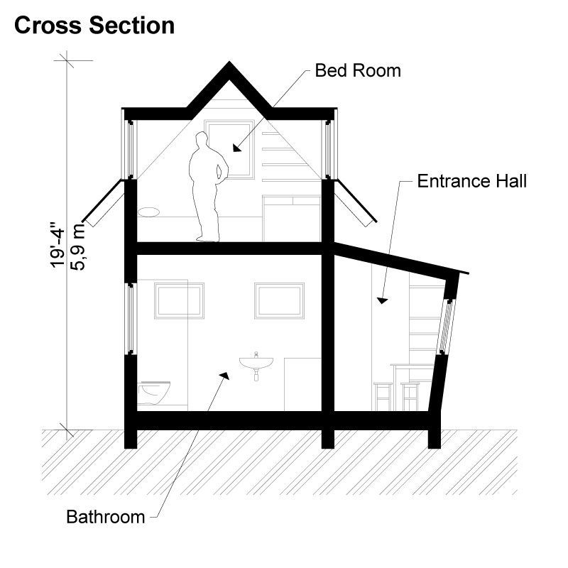 two story wooden frame house cross section - 26+ Two Storey Small Wooden House Design Pictures