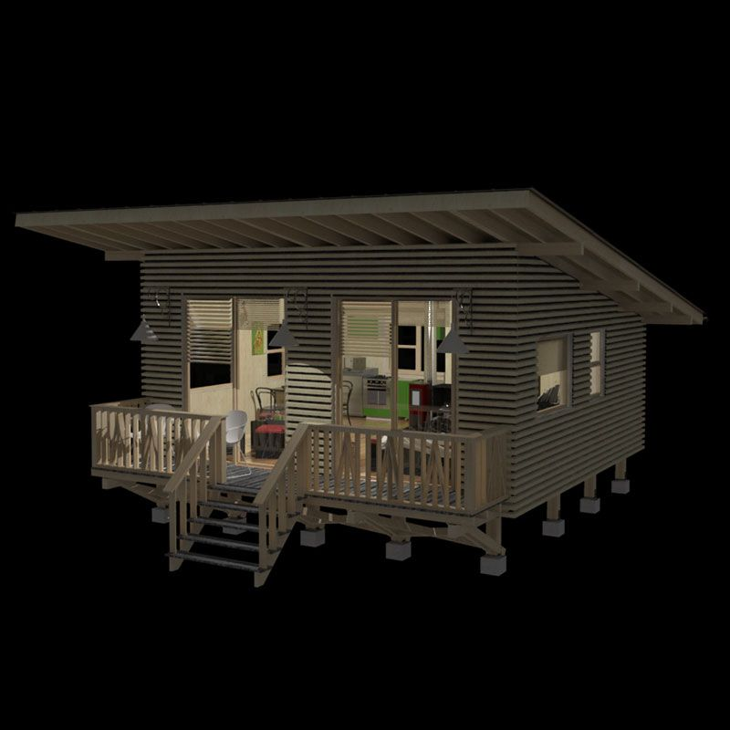 Modern Cabin Home Design: Weekend Cabin Plans