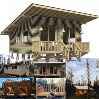 Piling, Elevated, Stilt and Pier Small House Plans