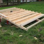 wood cabin floor construction process
