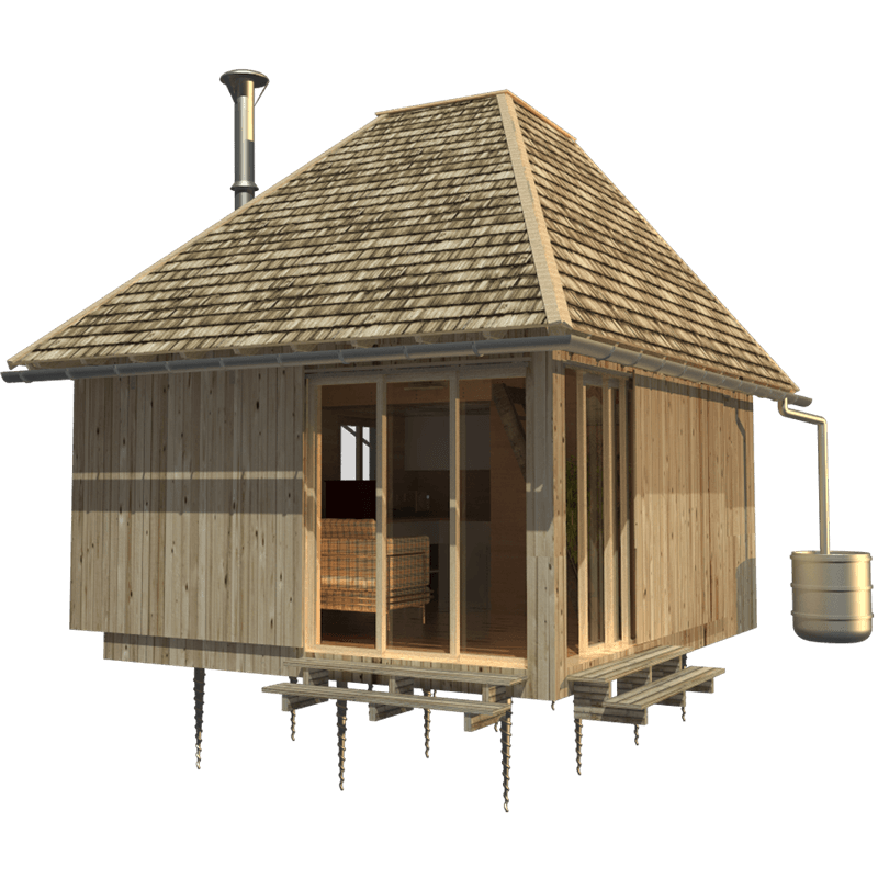 Wood cabin plans aiko for Wood cabin house