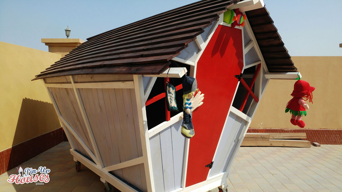 outdoor wooden playhouse from dubai kids playhouse plans